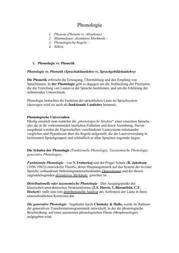 Phonologie - titus