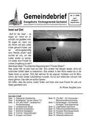 Gemeindebrief 2009-2 - Evangelischer Kirchenbezirk Gaildorf