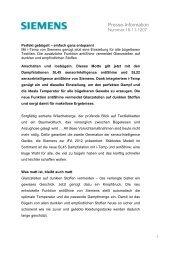 Presse-Information - Siemens