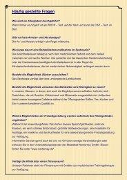 Häufig gestellte Fragen - Seehospiz Norderney