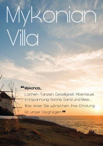 Lachen, Tanzen, Geselligkeit, Abenteuer ... - Mykonian Villa
