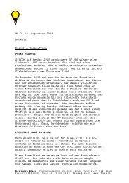 TR 7, 18. September 2004 Schweiz Fascht e Insel-Traum PETER ...