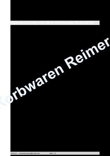 Wäschekorb eckig helle Weide Würfelmuster 65x44xH27/31