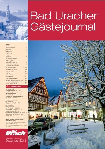 Dezember 2011 (PDF) - Bad Urach