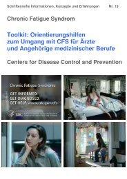 Toolkit: Orientierungshilfen zum Umgang mit CFS für ... - Fatigatio eV