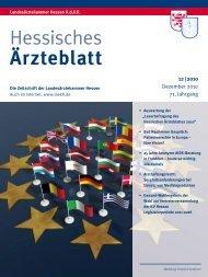 Vollständige Ausgabe Dezember 2010 - Landesärztekammer Hessen