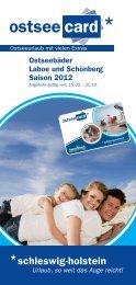 Ostseebäder Laboe und Schönberg Saison 2012