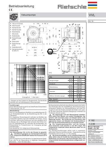 VVL Betriebsanleitung - rietschle@cromemco.gr