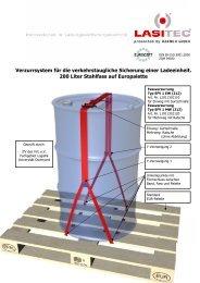 200 Liter Stahlfass auf Europalette... - LasiPortal