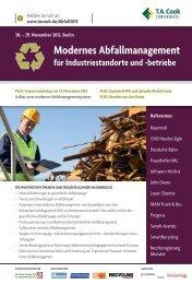 Modernes Abfallmanagement für Industriestandorte und - T.A. Cook