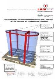 200 Liter Stahlfässer auf Europalette bzw. CP3 Palette - LasiPortal