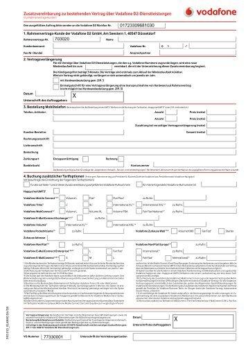 Zusatzvereinbarung Zum Bestehenden Stromlieferungsvertrag