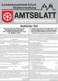 Amtsblatt Nr. 22 vom 30. November 2007 - Erfurt