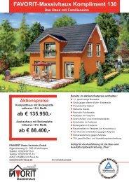 FAVORIT-Massivhaus Kompliment 130 Das Haus mit Familiensinn