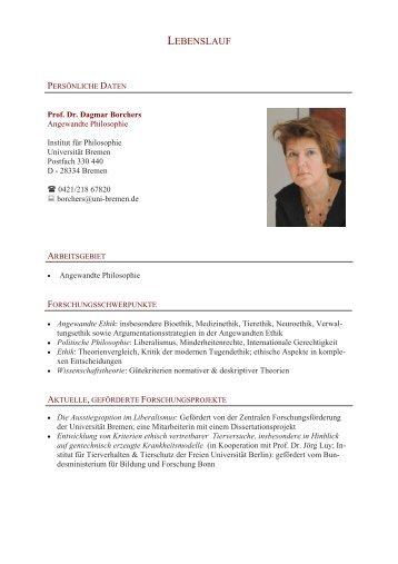 Curriculum Vitae - Abteilung Philosophie der Universität Bremen