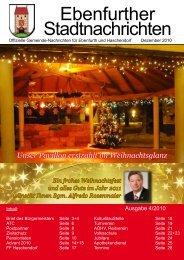Ebenfurther Stadtnachrichten vom Dezember 2010 - Stadtgemeinde ...