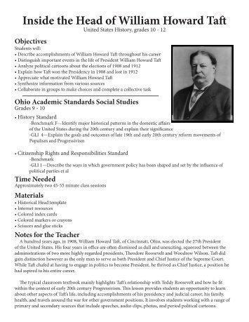 Inside the Head of William Howard Taft - CET