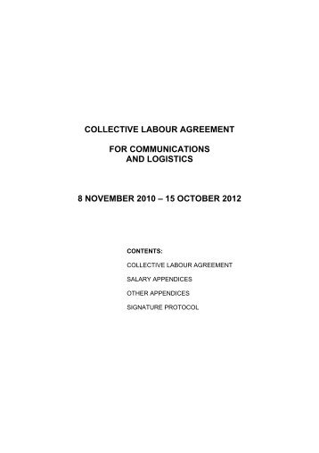 Template for logistics agreement man collective labour agreement for communications and logistics 8 platinumwayz