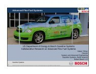 Advanced Flex-Fuel Systems US Department of Energy & Bosch ...