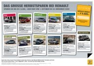 Das Grosse herbstsparen bei renault - bei Renault Skala