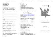 Folder met uitnodiging - Vlaamse Vereniging voor Psychiatrie