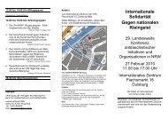 Flyer zur Konferenz - VVN/BdA NRW