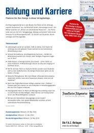 Bildung und Karriere - FAZ.net