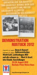 DEMONSTRATION ROSTOCK 2012 - IG Metall Wolfsburg