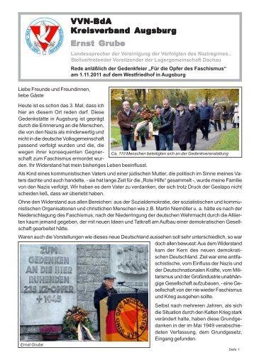 Ansprache - VVN-BdA Augsburg