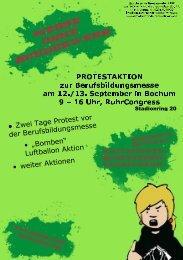 """• """"Bomben"""" Luftballon Aktion - DFG-VK NRW"""