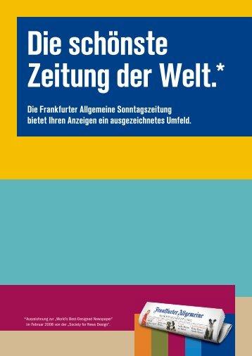 Die Frankfurter Allgemeine Sonntagszeitung bietet Ihren ... - FAZ.net