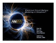Electrical Circuit Battery Modeling in Simplorer - Ansys