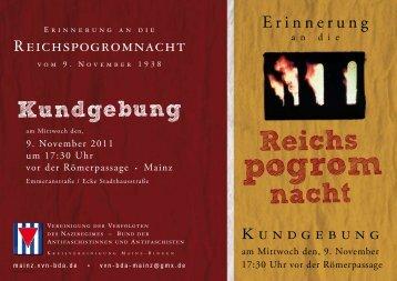 Flugblatt 9. November 2011   PDF-Format - VVN-BdA Mainz