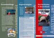 Neofaschismus in Deutschland Gegenstrategien Zusammenhänge U I