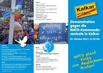 Demonstration gegen die NATO-Kommando - Friedensforum Duisburg
