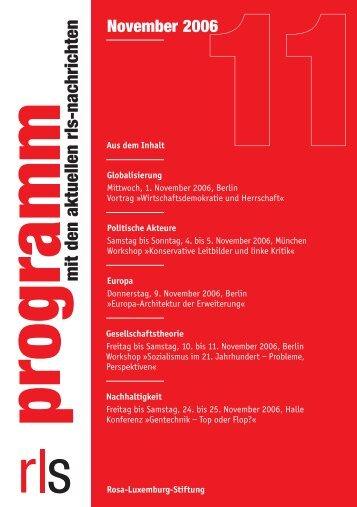 programm mit den aktuellen rls-nachrichten - Rosa-Luxemburg ...