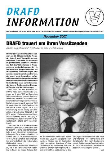 November 2007 - DRAFD eV