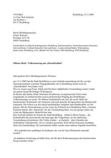 VVN/BdA 23.11.2009 - Stadtpolitik Heidelberg