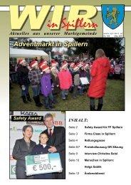 Informationsblatt Dezember 2011 - Spillern