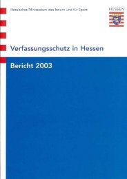 Verfassungsschutzbericht 2003 - Hessen