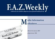 edia Information ediadaten - FAZ.net