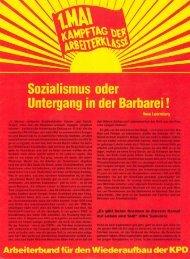 us zum 1. Mai! - Arbeiterbund für den Wiederaufbau der KPD