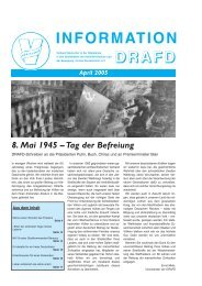 INFORMATION DDRRRAAAFFFDD - DRAFD eV