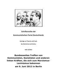 Schriftenreihe der Kommunistischen Partei Deutschlands ...