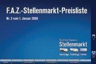FAZ-Stellenmarkt-Preisliste Nr. 2 vom 1. Januar - FAZ.net
