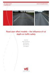 Road user effect models – the influence of rut depth on traffic ... - VTI