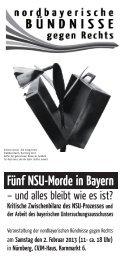 Fünf NSU-Morde in Bayern - Nürnberger Bündnis Nazistopp