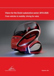 From vehicles to mobility: driving for value - The Dutch Automotive ...