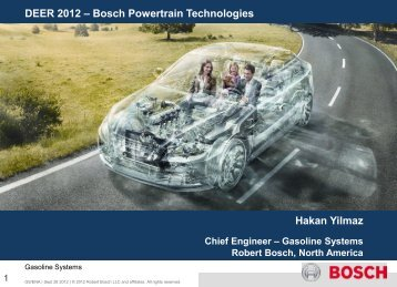 Bosch Powertrain Technologies - EERE - U.S. Department of Energy