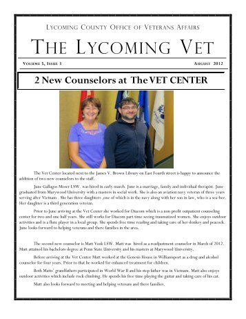 August 2012 - Lycoming County Government